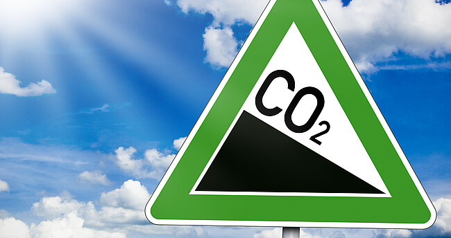Symbolschild CO2