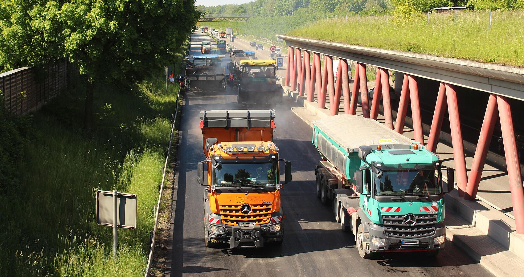 Fahrbahndeckenerneuerung auf der B 30 Ortsumfahrung Ravensburg